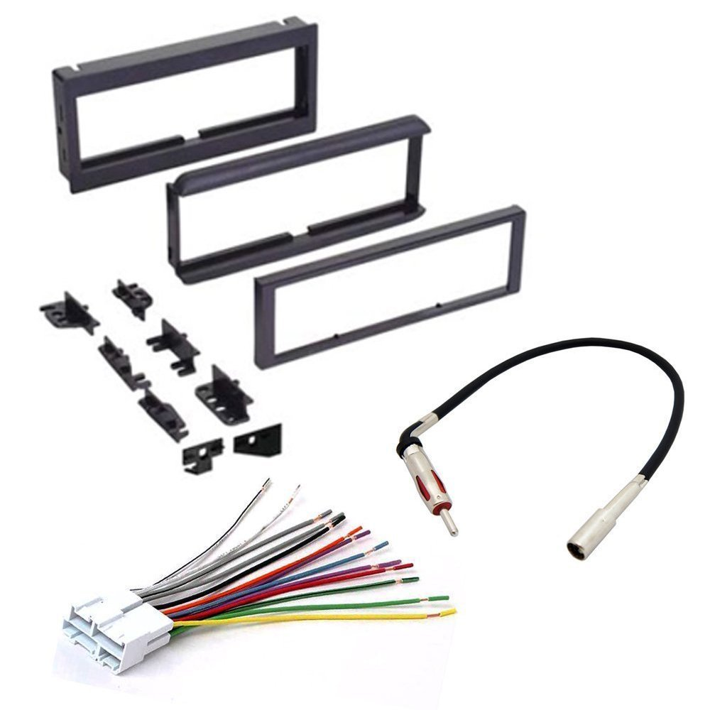 chevrolet 1998 2001 s10 car cd stereo receiver dash install Stereo Wiring Harness Color Codes at Stereo Mounting Kit And Wiring Harness
