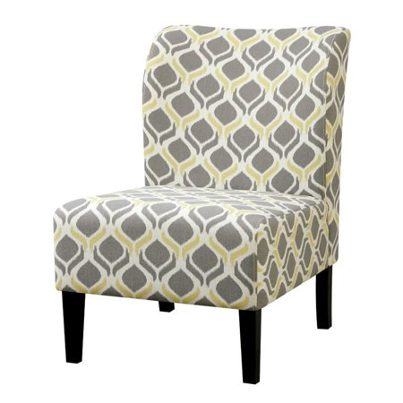 Furniture of America Sindy II Fabric Accent Chair in Yellow ()