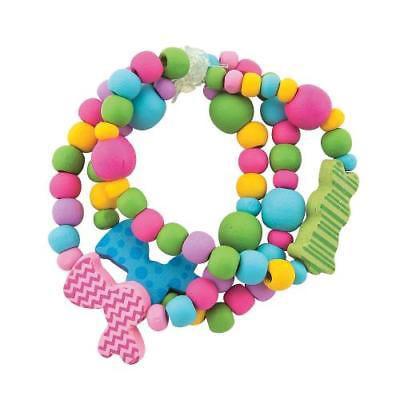 IN-13725310 Easter Bunny Beaded Bracelet Craft Kit