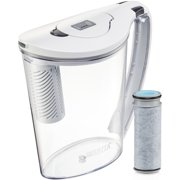 Brita Stream Filter as You Pour Water Pitcher with 1 Filter, 10 cup, Hydro, BPA Free, Chalk White by The Clorox Company