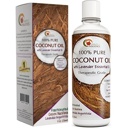 Maple Holistics Coconut Oil With Lavender  Moisturizing   Aromatherapy  Natural Skin Care Product  8 Oz