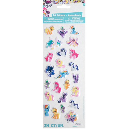 Puffy My Little Pony Sticker Sheet - My Little Pony Stickers