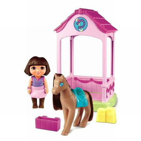 Fisher Price Dora the Explorer Pony Palace With Horse & Dora Figure