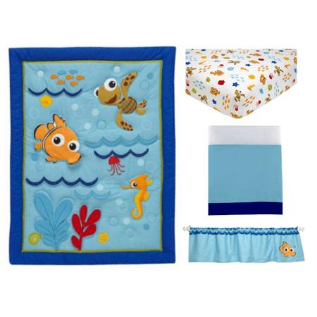Disney Baby Bedding Nemo's Wavy Days 4 Piece Crib Bedding