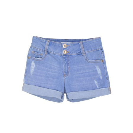 Jordache Rolled Cuff Denim Short (Little Girls & Big Girls) - Girl Clothes 10-12