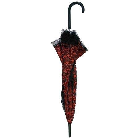 Women's Novelty Lace Parasol Umbrella, Red/Black, One Size, Novelty lace parasol umbrella By Forum Novelties](Novelty Umbrella)