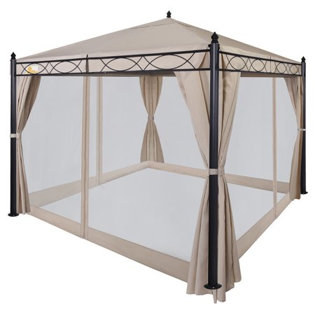 Palm Springs 10ft X 10ft Deluxe Patio Canopy With Mosquito