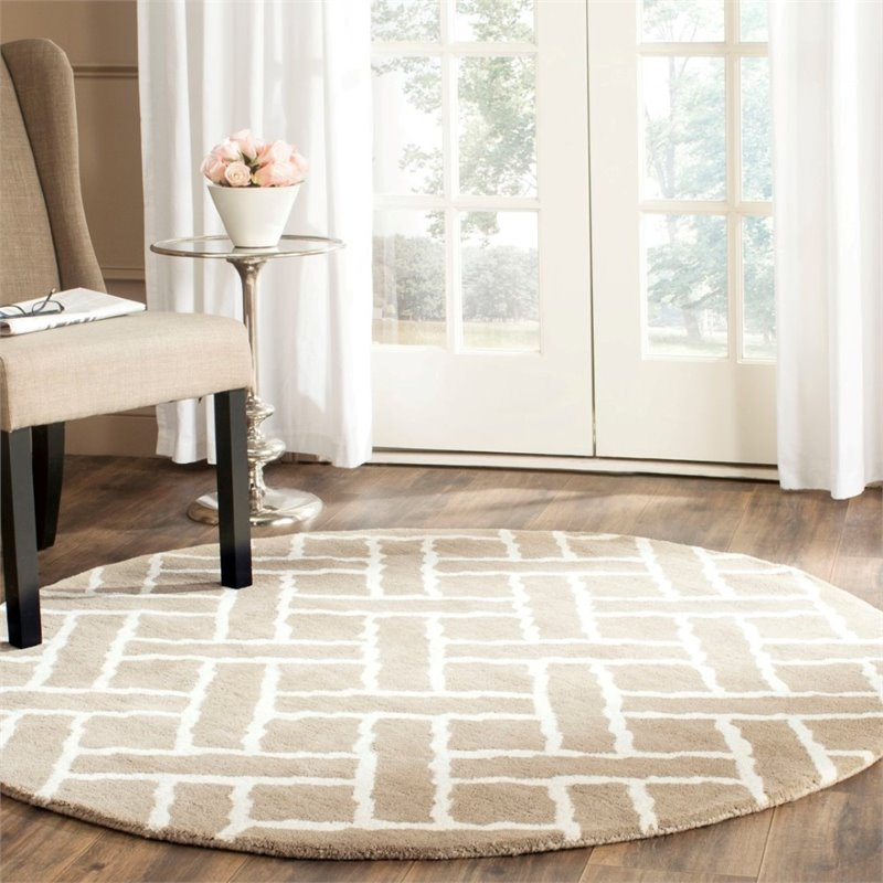 Safavieh Chatham 4' X 6' Hand Tufted Wool Rug in Beige and Ivory - image 4 of 10