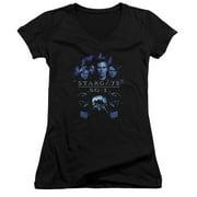 Stargate SG1 Stargate Command Juniors V-Neck Shirt