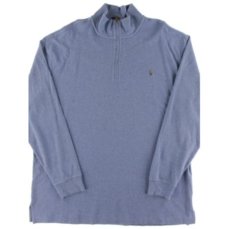 e5da363b9b0e3 Polo Ralph Lauren - Polo Ralph Lauren Mens Big & Tall Heathered Long Sleeves  1/4 Zip Jacket - Walmart.com