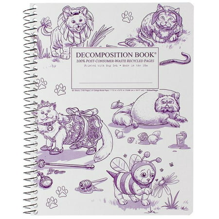 Costume Cats Coilbound Decompositon Book - Costume Book