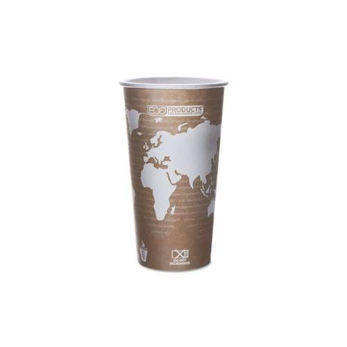World Art Renewable Resource Hot Drink Cups, 20 oz, Tan, 50/Pack