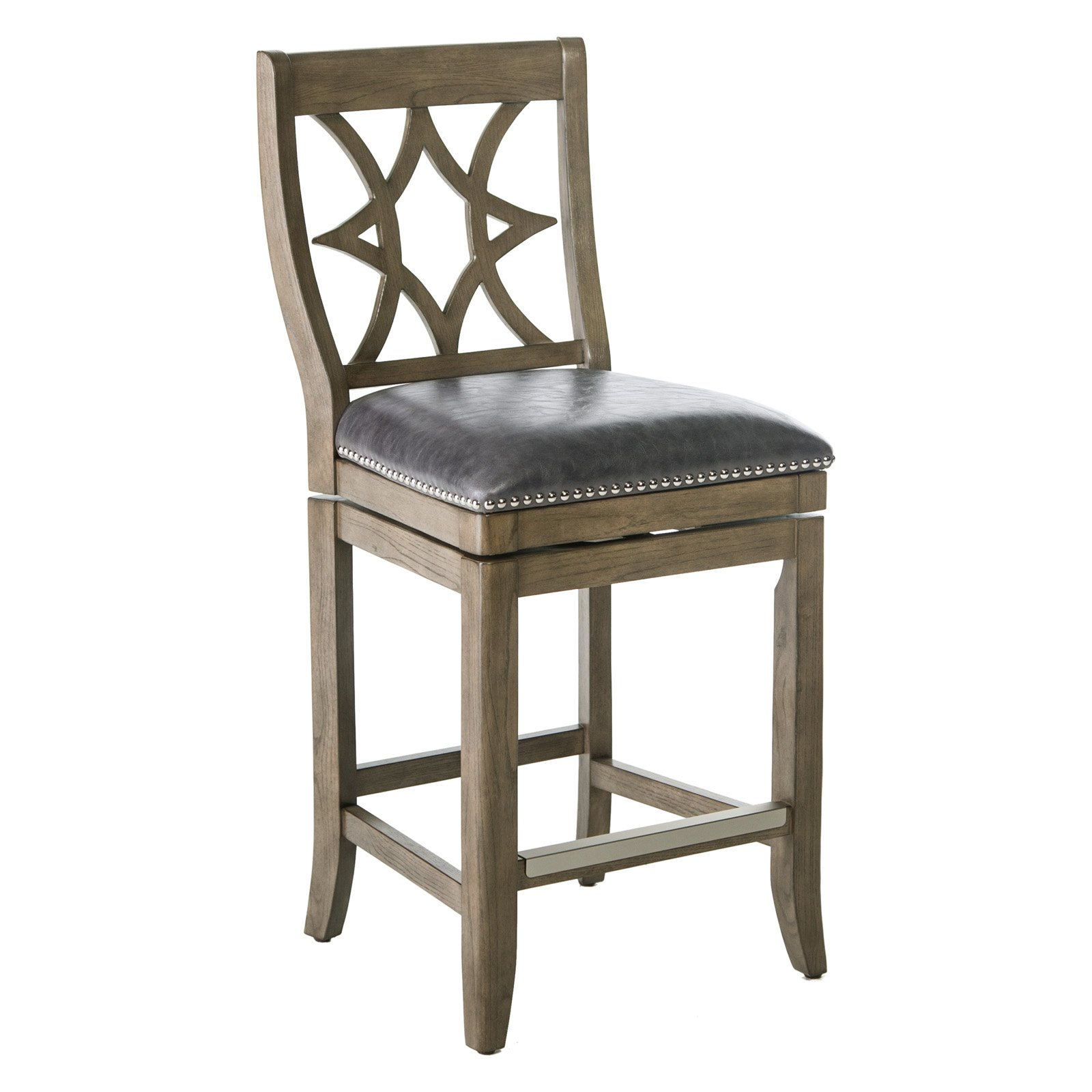 Belham Living Oliver Square Seat Swivel Counter Stool