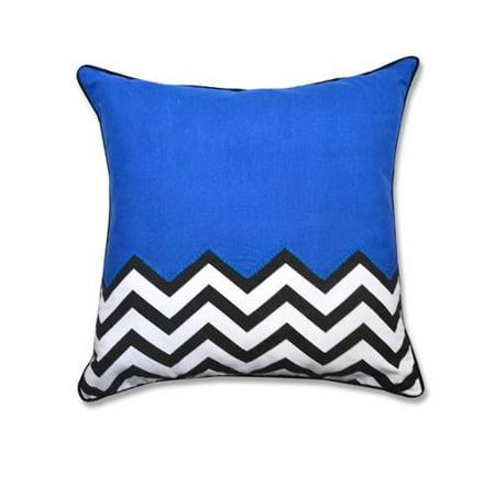 Half Solid - Half Chevron 20-inch Decorative Throw Pillow Light Blue - Walmart.com