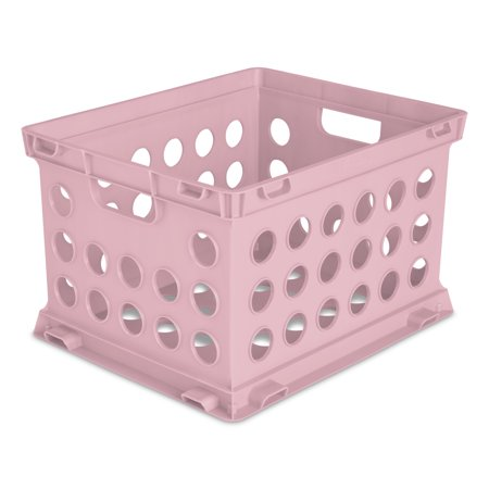 Sterilite File Crate Mauve Splash