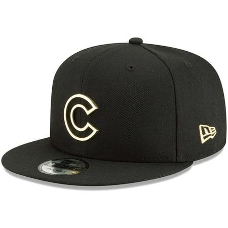 Chicago Cubs New Era Metal Framed 9FIFTY Snapback Adjustable Hat - Black - OSFA