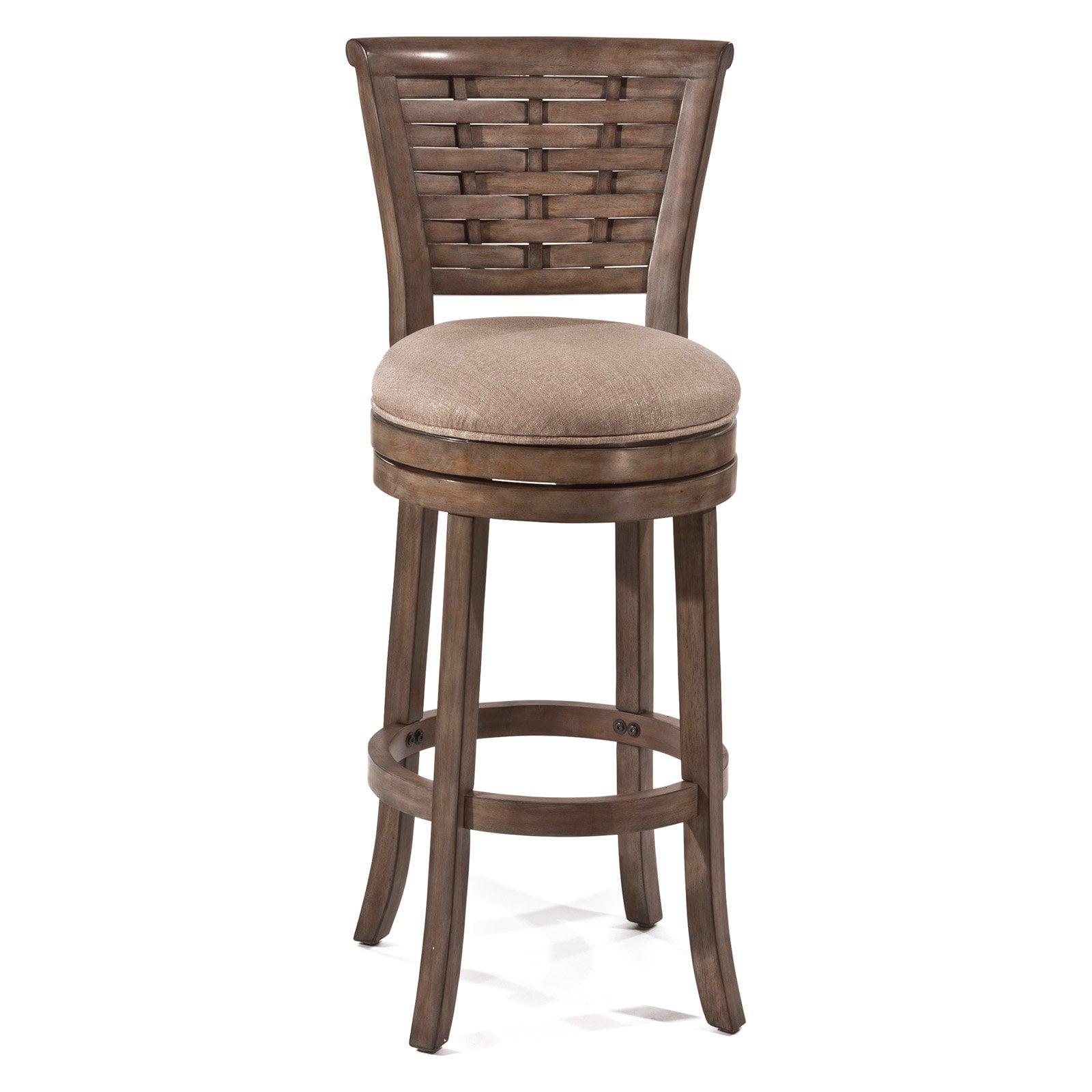 Thredson Swivel Bar Stool, Light Antique Graywash Finish by Hillsdale Furniture