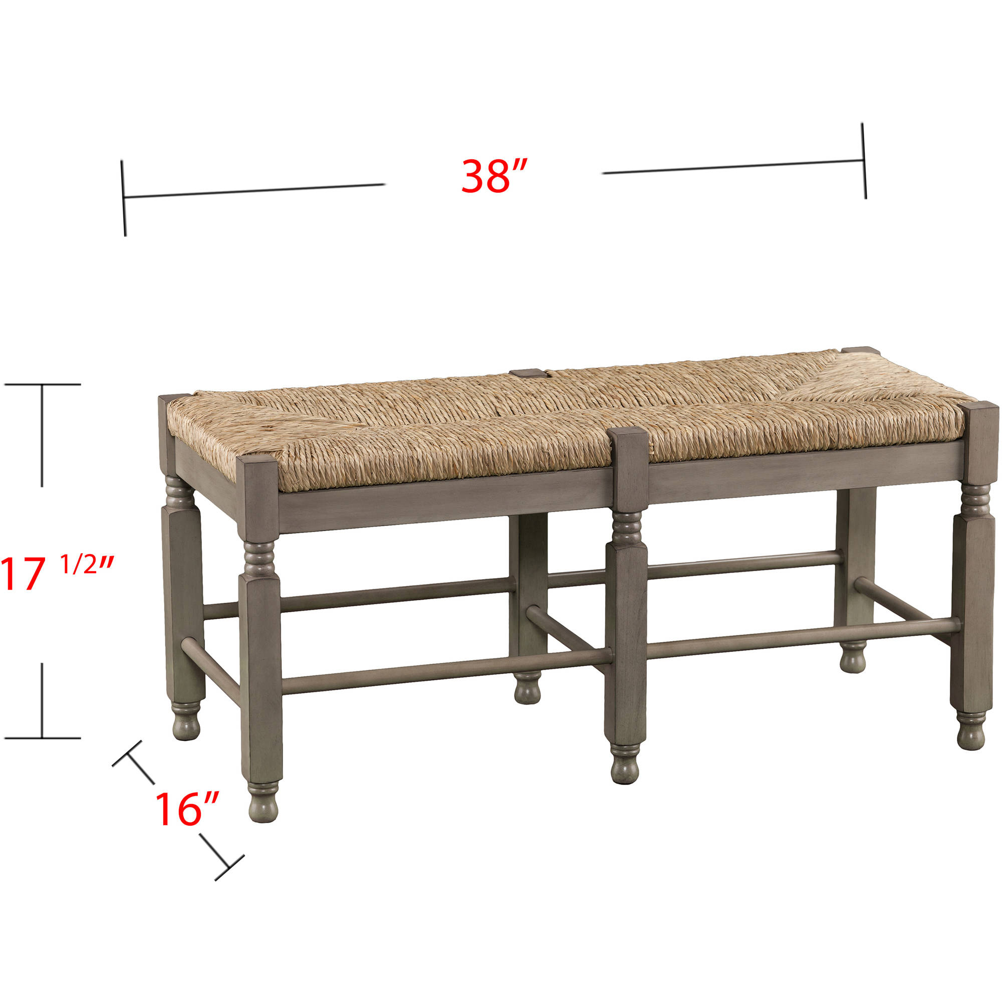 Superior Southern Enterprises Kuskyn Seagrass Bench/Coffee Table, Antique Dove Gray  Image 5 Of 8 Amazing Design