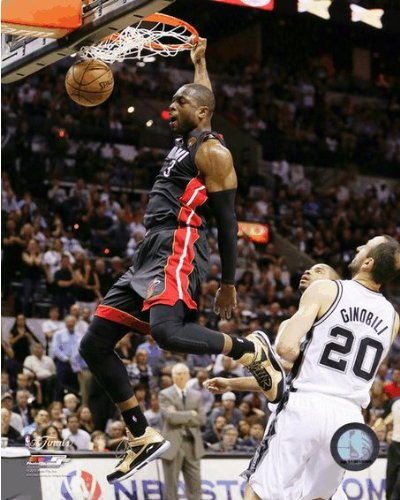 Dwyane Wade Miami Heat 2013 Finals Game 4 Action Photo 8x10, Exhibition Quality 8x10 Photograph By NBA,USA