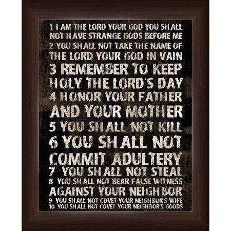 10 Commandments Wall Art - Walmart.com