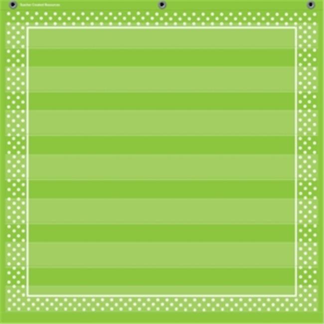 Lime Polka Dots 7 Pocket Chart