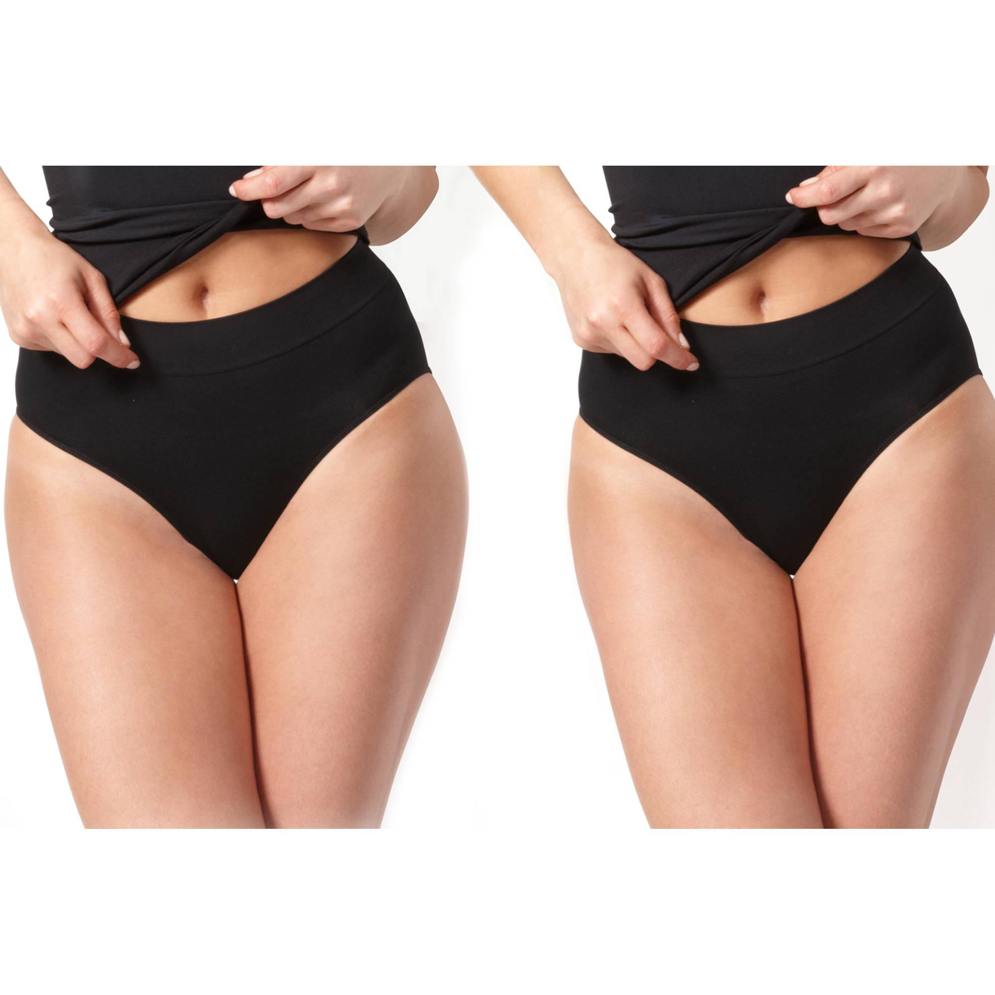 Smart & Sexy Women's Shapewear, 2pk Control Panty, Style SA496