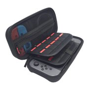 Mazepoly Carry Case for Nintendo Switch Portable Travel Case with 20 Game Card Storage for Nintendo Switch Console,Black