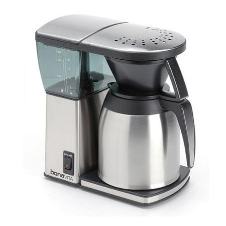 Bonavita Bv1800 8 Cup Coffee Maker With Glass Carafe Review : Bonavita BV1800TH 8-cup Coffee Maker w/ Thermal Carafe + Two-Pack Coffee Mug & Coffee/ Espresso ...