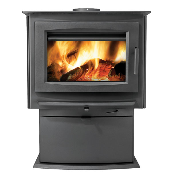 Click here to buy S4 Napoleon Medium Wood Burning Pedestal Stove by Napoleon.