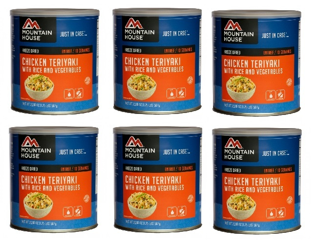 Mountain House Freeze Dried Food Chicken Teriyaki with Rice-6 Cans Combos by Mountain House