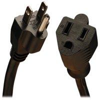 eDragon Outlet Saver Power Extension Cord NEMA 5-15R TO NEMA 5-15P 10 Feet Black ED714017