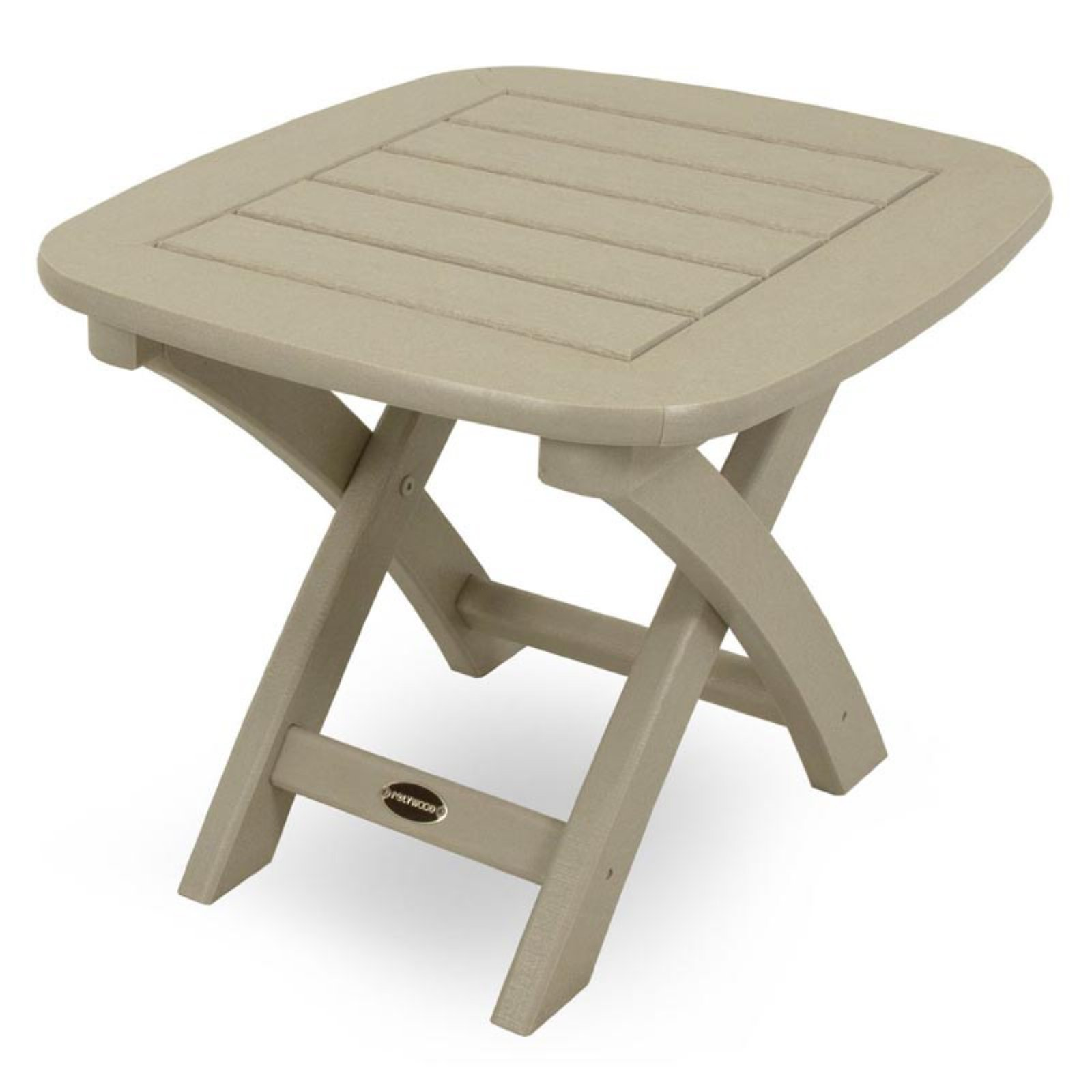 POLYWOODu0026reg; Nautical Recycled Plastic Outdoor Side Table