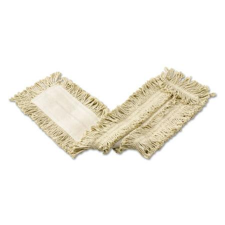 Cut-End Cotton Disposable Dust Mop, White, 36 x 5,