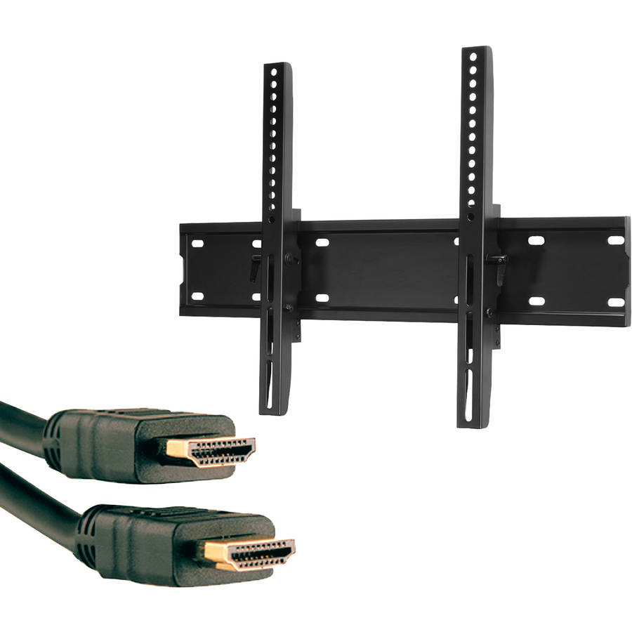 """Omnimount OC120T 37""""-70"""" OmniClassic Tilt Mount and Axis 41204 High-Speed HDMI Cable with Ethernet, 9'"""