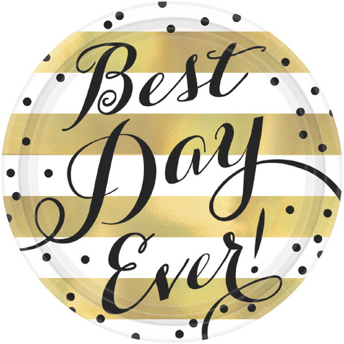 Wedding and Bridal \u0027Best Day Ever\u0027 Extra Large Paper Plates ...  sc 1 st  Walmart & Wedding and Bridal \u0027Best Day Ever\u0027 Extra Large Paper Plates (8ct ...