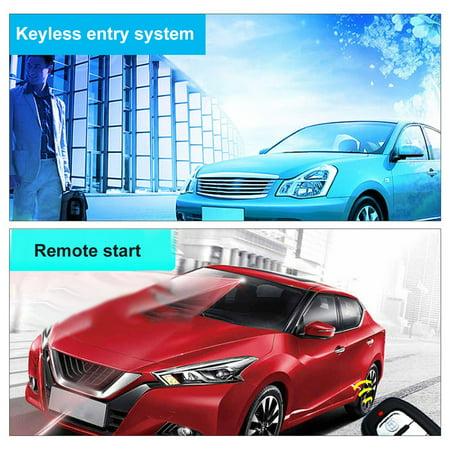 12V Auto Car Alarm One-button Push Engine Starter Switch PKE Keyless Entry Start Stop Antitheft System - image 8 de 8