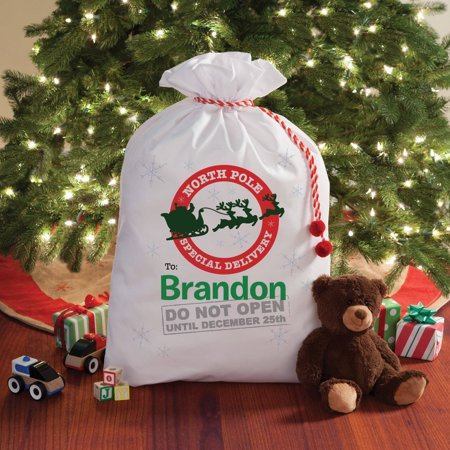 Personalized Don't Open Until Christmas Santa Sack, 2 Sizes To Choose From ()