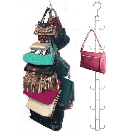 Over Door Hanging Purse Storage Durable Holds 50 Pounds Rotates 360 For Easy