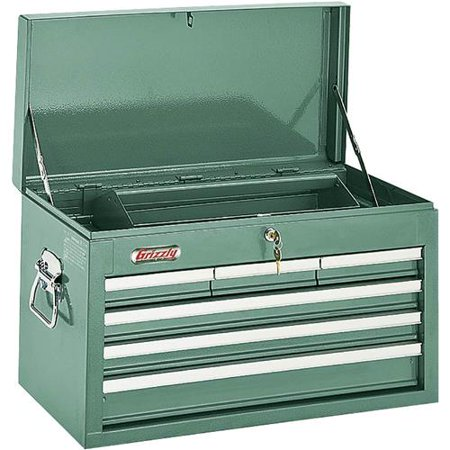 Grizzly Industrial H0838 6 Drawer Top Chest w Ball Bearing Slides