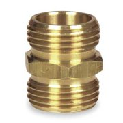 Westward 4KG82 3/4 GHT(M) x 3/4 GHT(M) Brass Hose To Hose Connector