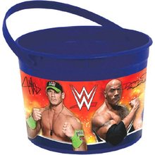 WWE Wrestling Plastic Favor Bucket Container ( 1pc ) (Wwe Favors)