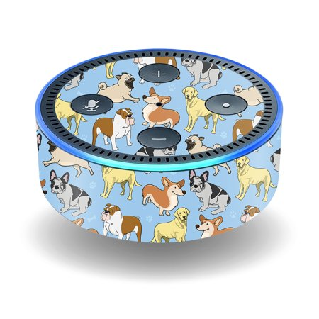 Skin For Amazon Echo Dot (2nd Gen) - Puppy Party | MightySkins Protective, Durable, and Unique Vinyl Decal wrap cover | Easy To Apply, Remove, and Change Styles - Game Ideas For 2nd Grade Halloween Party