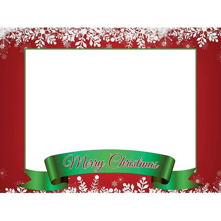 Holidays Merry Christmas Selfie Frame Poster DYI Photo Booth Frame Prop Christmas Decoration Christmas Party X-mas Photobooth Frame Sizes 36x24 Inches (Holiday Photo Frames)