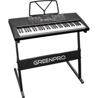 GreenPro 61 Key Portable Electronic Keyboard LED Display with Adjustable Stand and Music Notes Holder