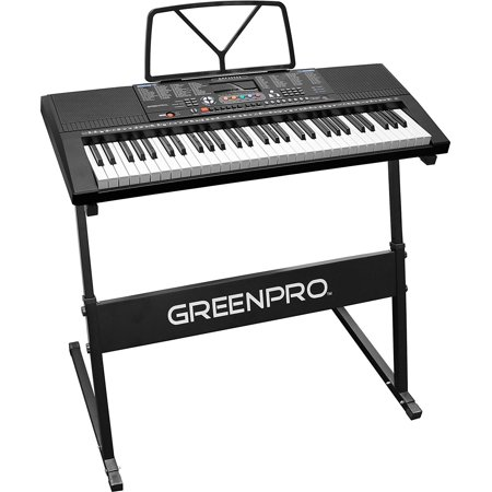 GreenPro 61 Key Portable Electronic Keyboard LED Display with Adjustable Stand and Music Notes Holder (Electronic Music Keyboard)