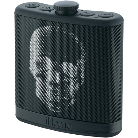 iHome Rechargeable Flask-Shaped Bluetooth Stereo Speaker with Custom Sound Case, Black