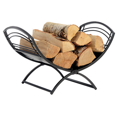 ShelterLogic Hearth Accessories Fireplace Classic Log Holder in Black