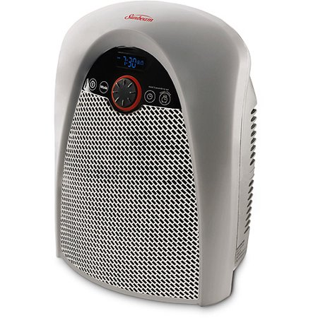 Sunbeam Heater Fan With Digital Thermostat Walmart Com