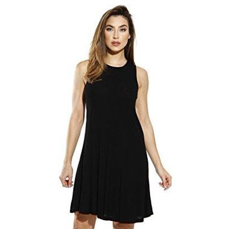 ffeabc9c72a Just Love - Just Love Sleeveless Trapeze Short Dress   Summer Dresses for  Women (Black