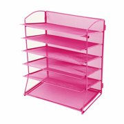 HGMart 6-Tier Desktop Tray Organizer Wall Mount File Holder Organizer for Office and Home